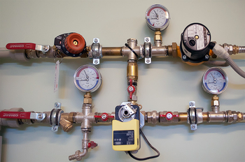 Монтаж термоманометра отопления