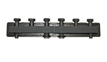BARBERI Стальной распределительный коллектор 3 отопительных контура. В теплоизоляции