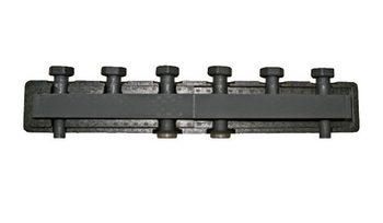 BARBERI Стальной распределительный коллектор 4 отопительных контура. В теплоизоляции