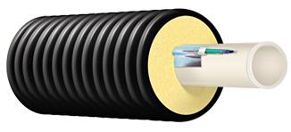 Труба ТВЭЛ-ПЭКС PEX-a с кабель каналом, 25x2,3/90 мм