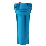 """Фильтр магистральный для холодной воды (непрозрачный синий корпус 10"""") 1/2"""""""