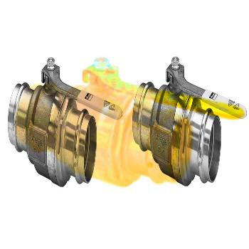 Кран пресс-В газовый бронза Profipress G  VIEGA 15х1/2