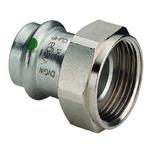 Муфта пресс-В с накидной гайкой и плоской прокладкой нержавеющая сталь Sanpress Inox  VIEGA 42х1'3/4
