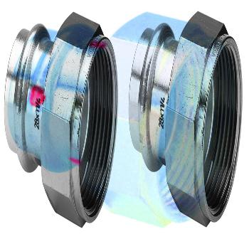 Муфта пресс-В с накидной гайкой и плоской прокладкой оцинкованная сталь Prestabo VIEGA 28х1'1/4