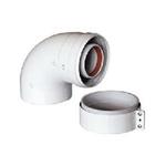 Отвод коаксиального дымоотвода для котлов BAXI, D=60/100 мм, 87 градусов
