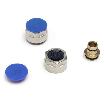 Соединитель обжим-В никелированный для трубы RAUTITAN flex/pink REHAU 20х2.8 ЕК