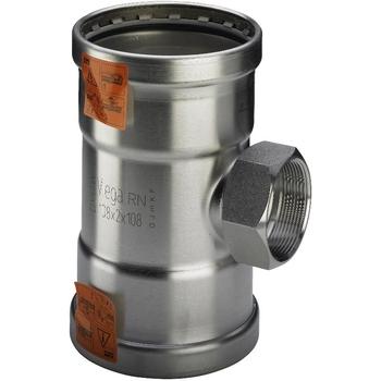Тройник пресс-В нержавеющая сталь Sanpress Inox  VIEGA 76х2'х76
