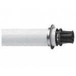 Труба коаксиального дымоотвода для котлов BAXI, с наконечником, D=60/100, длина 1100 мм