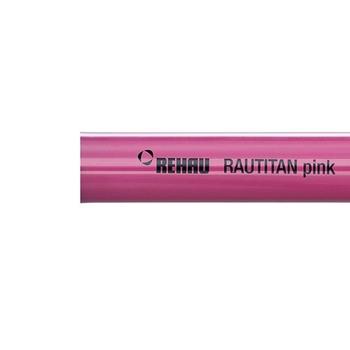 Труба полиэтиленовая с кислородным барьером PE-Xa/EVAL RAUTITAN pink REHAU 25х3,5 бухта 50м