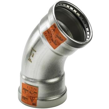 Угол пресс 45 град. нержавеющая сталь Sanpress Inox XL VIEGA 64