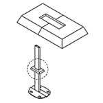 Kermi Розетка прямоугольная для напольных креплений
