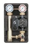 Meibes насосная группа MK с подд. темп. в диапазоне 25-50 С с насосом Grundfos UPS 25-60 в термостате теплого пола 1 дюйм
