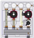 Meibes Насосно-смесительный модуль Kombimix 2 UK_UPSO 15-65