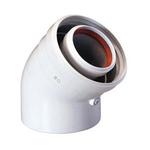 Baxi Коаксиальный отвод полипропиленовый 45 , диам. 80/125 мм, HT