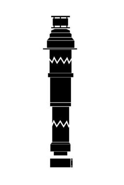 Vaillant 80/125 мм PP. Цвет: черный