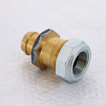Угол пресс-В разъёмное соединение, плоская прокладка, бронза Sanpress SC-Contur 54x2'