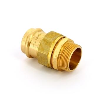Муфта пресс-Н IBP 42 х 1 1/2' с разъемным соединением бронза