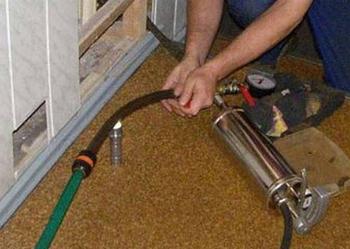 Заполнение теплоносителем систему отопления